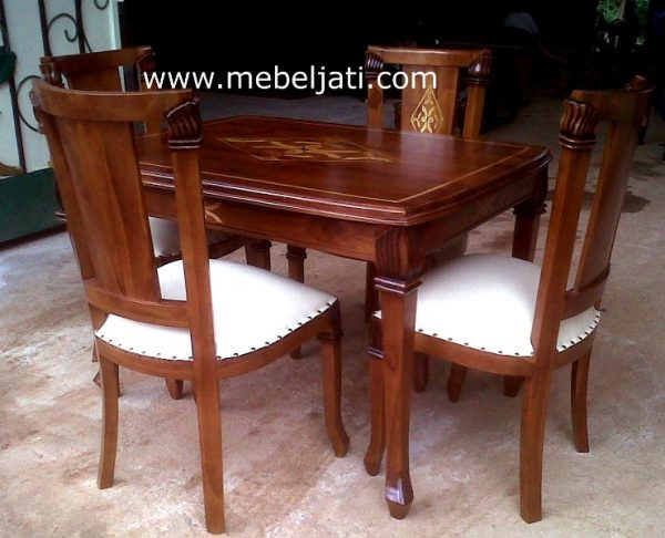 Meja makan inlay